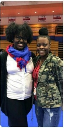 2017-2018 Kamya Johnson(President) on the right & Tyra Brown-Wallace(Vice-President) on the left.