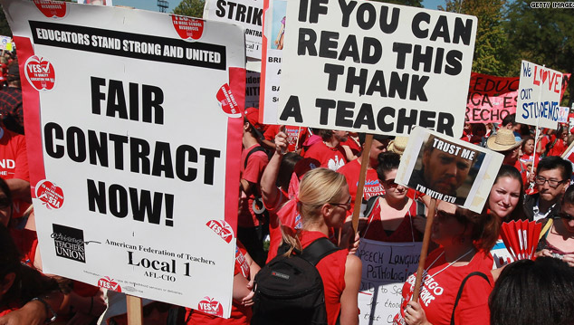Teachers Take A Strike